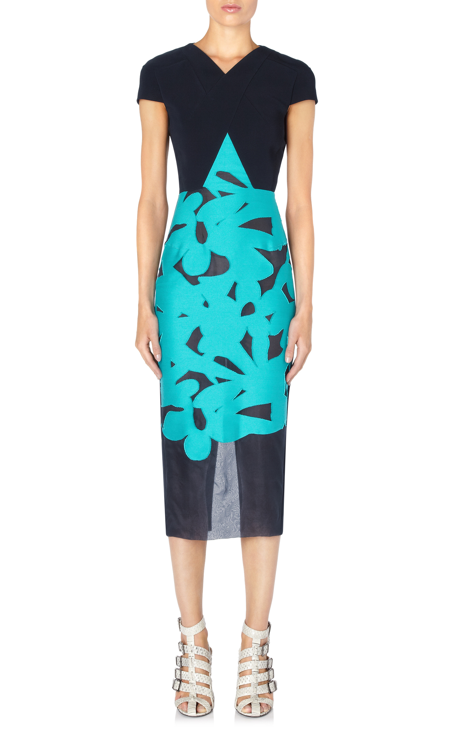 Lyst Roland Mouret Gibson Dress In Blue