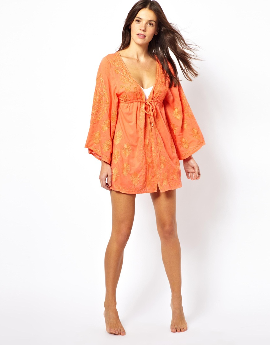 65e9299df3b2f Lyst - Melissa Odabash Hazel Beach Coverup in Orange