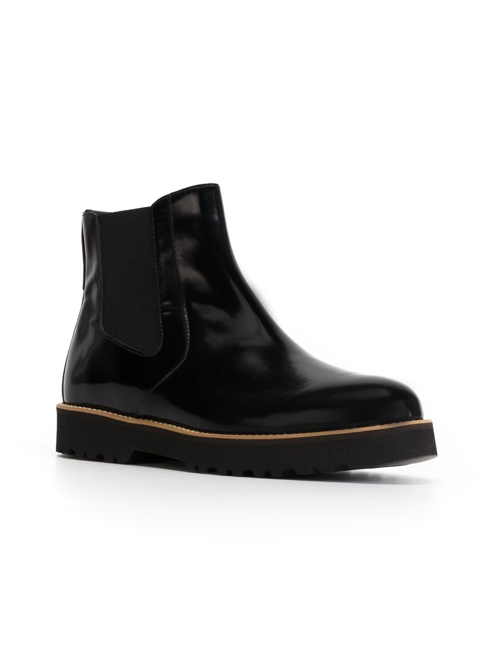 hogan rubber sole chelsea boots in black lyst. Black Bedroom Furniture Sets. Home Design Ideas