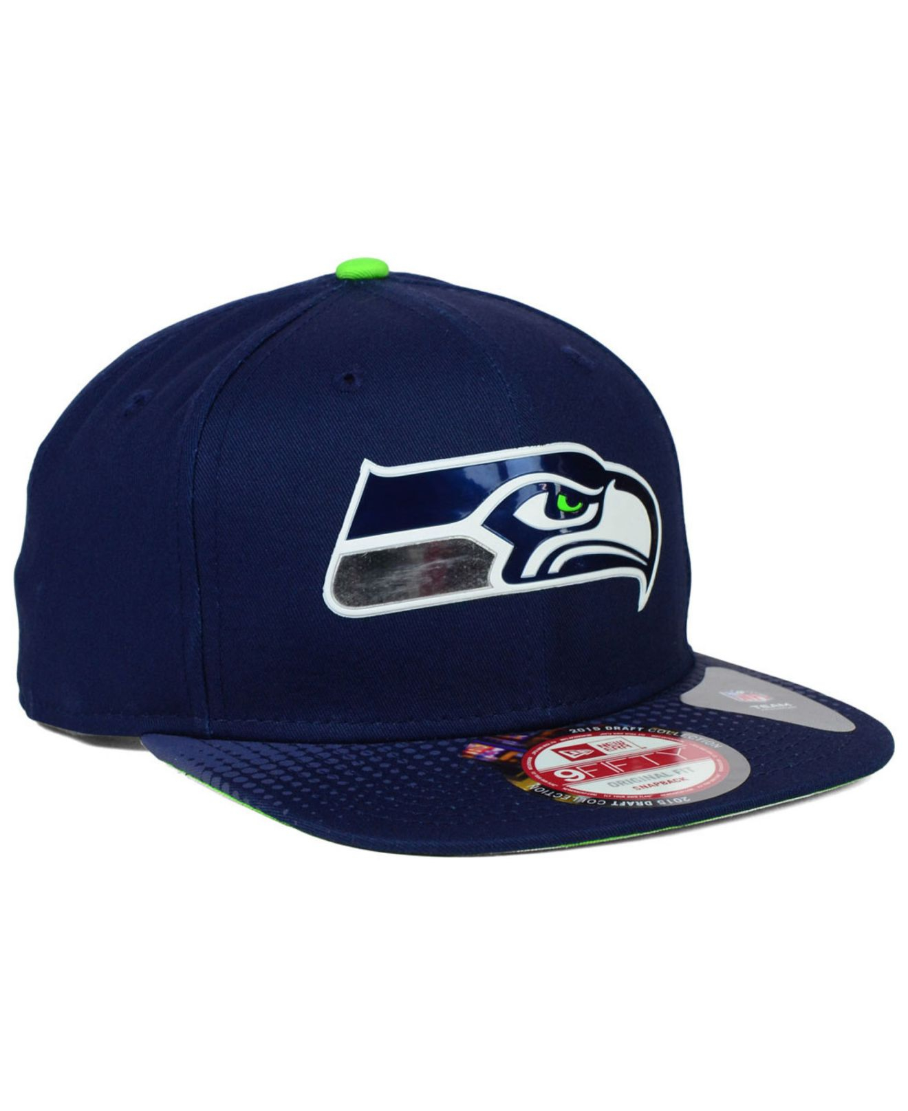 new product d2f48 dcf73 KTZ Seattle Seahawks 2015 Nfl Draft 9fifty Snapback Cap in Blue for ...