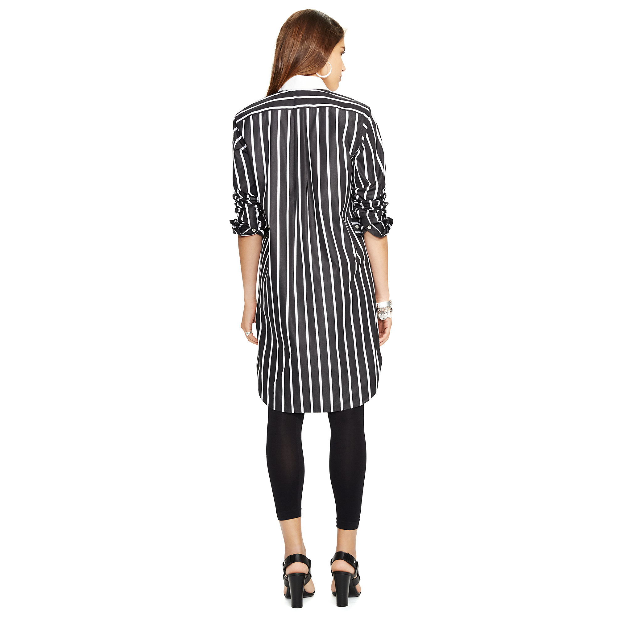 1513582ec28 Polo Ralph Lauren Black And White Striped Dress Shirt