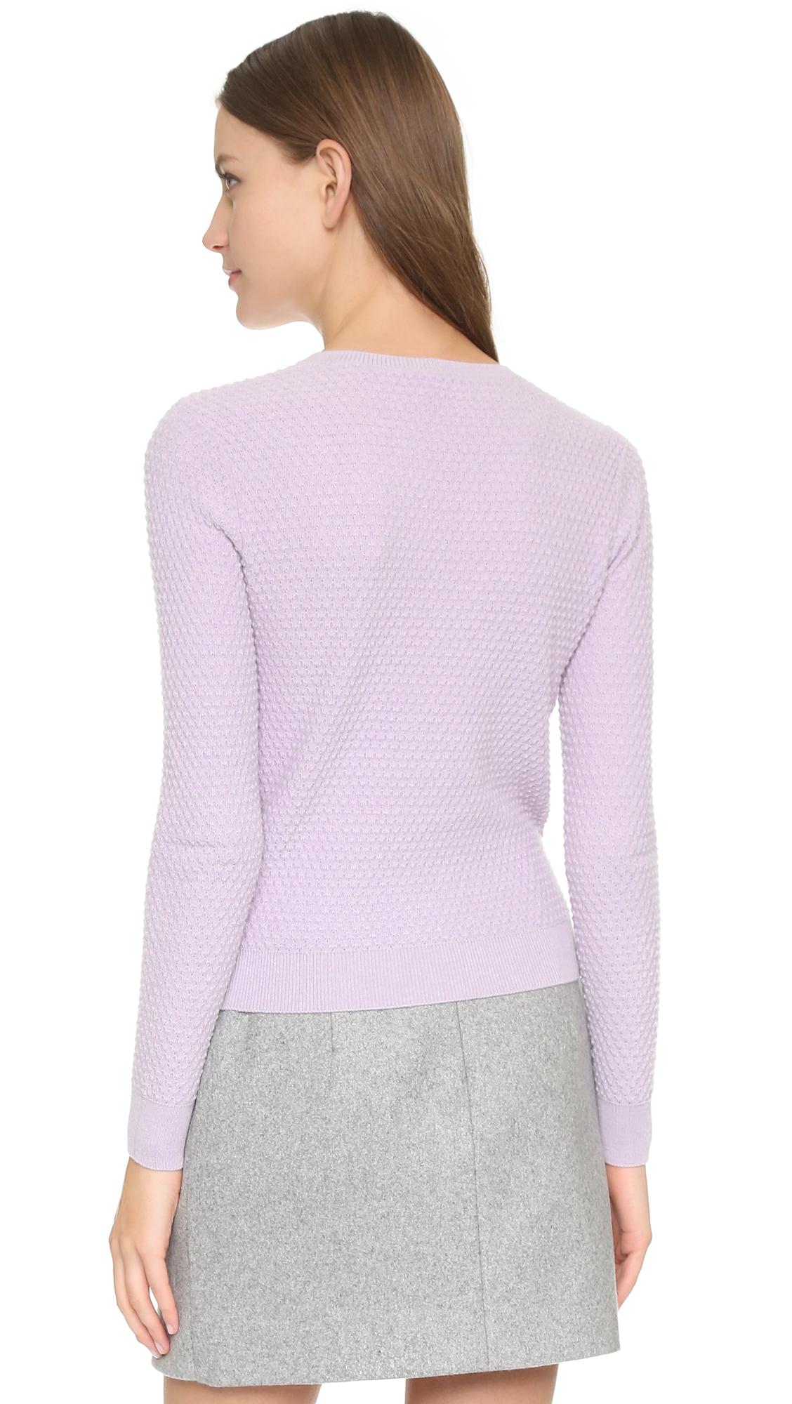 Carven Long Sleeve Sweater - Lilac in Purple   Lyst
