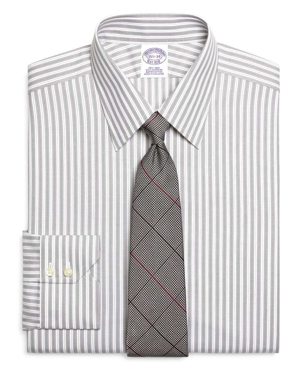 Brooks Brothers Non Iron Extra Slim Fit Herringbone Stripe