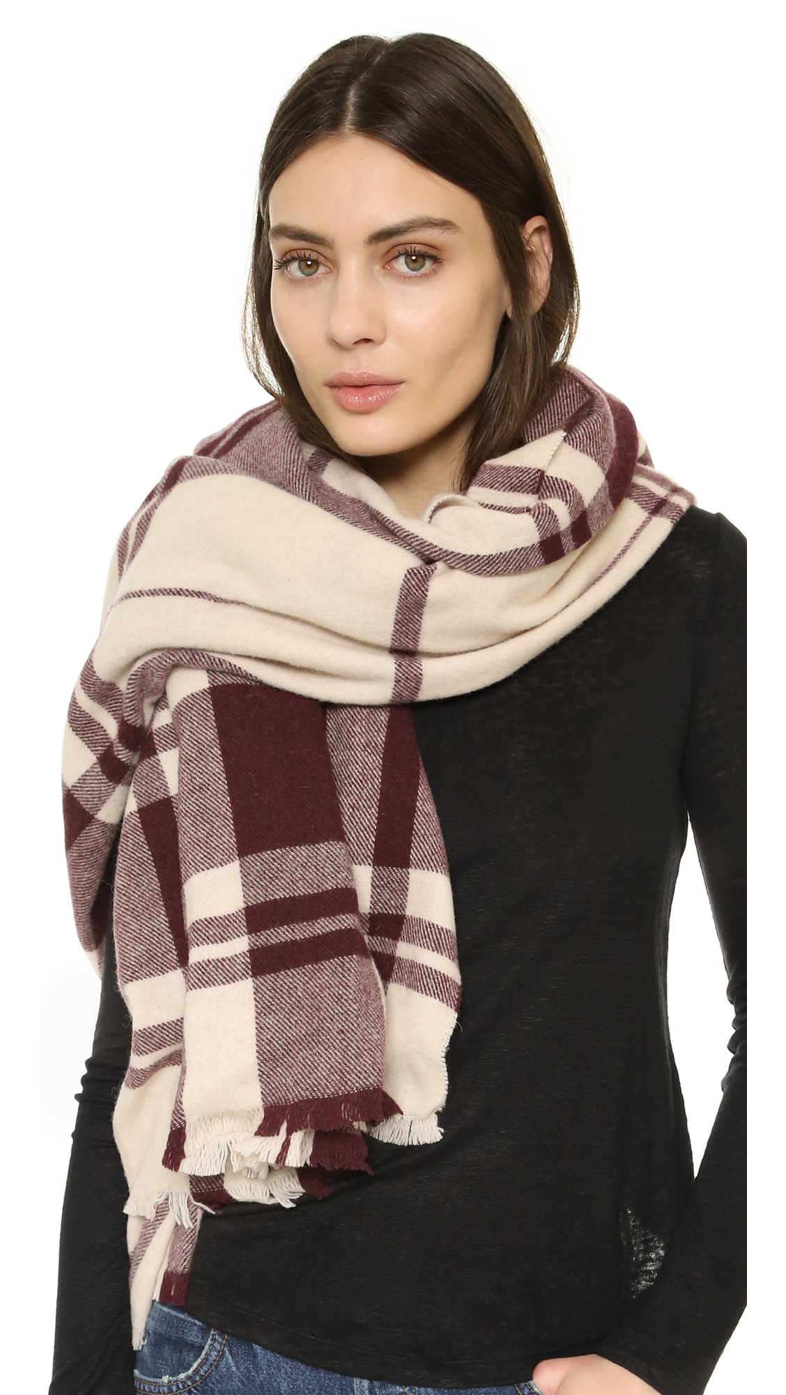 club monaco ladore scarf in lyst