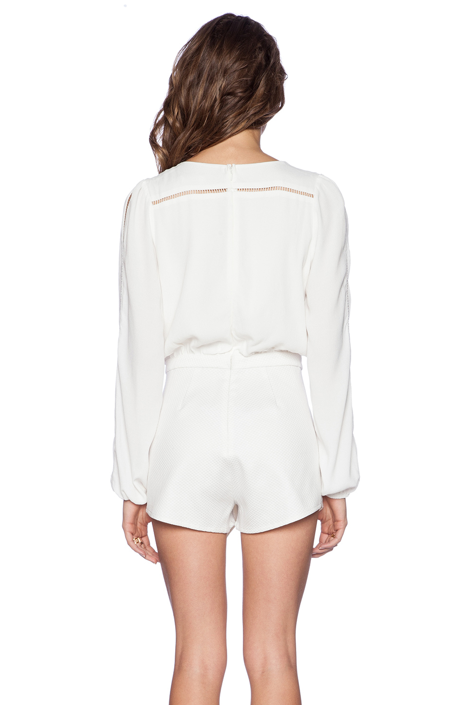 daab56dac8a3 Lyst - Lovers + Friends Radiance Wrap Romper in White