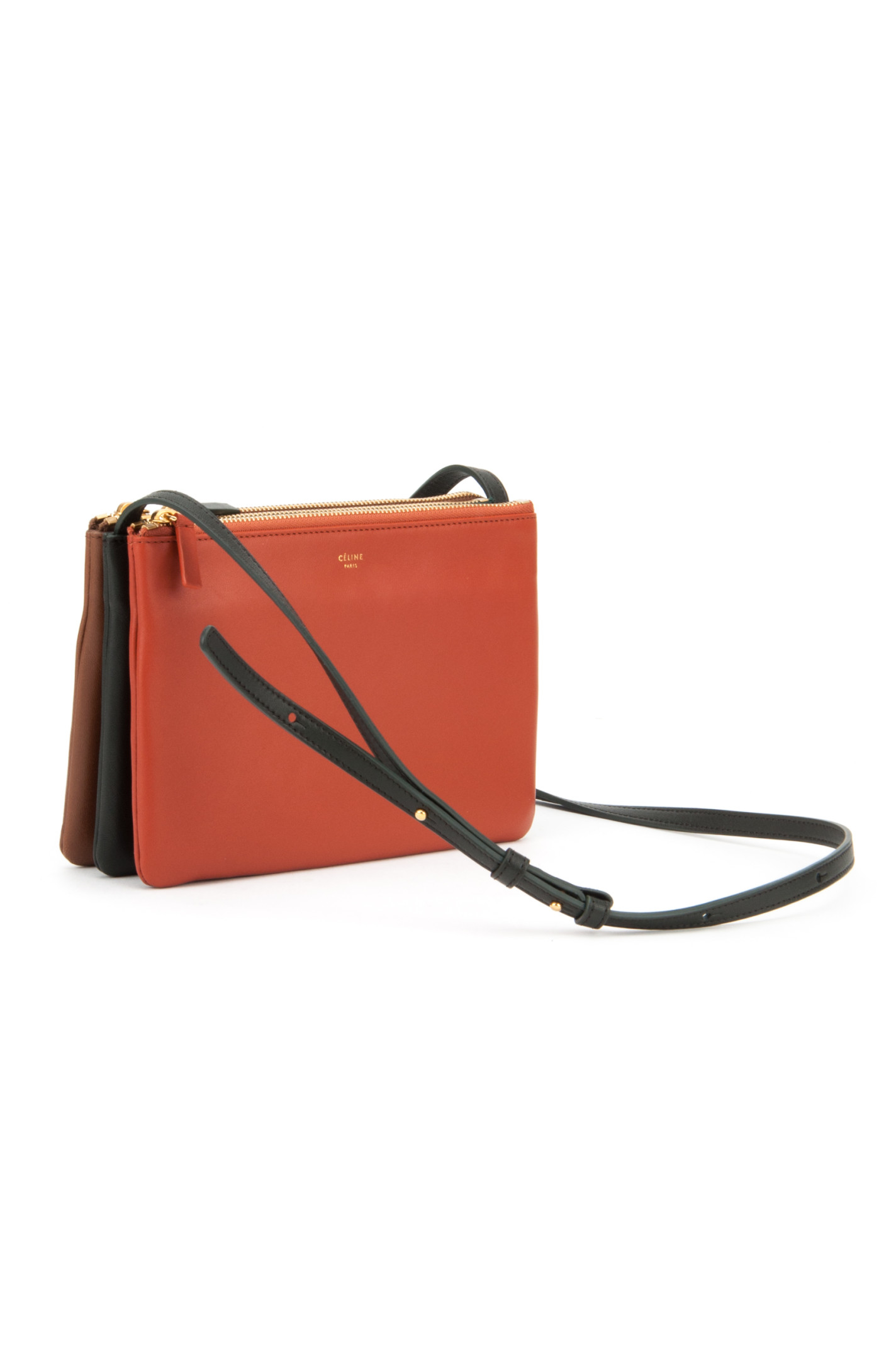 C¨¦line Trio Bag in Orange (BRICK) | Lyst