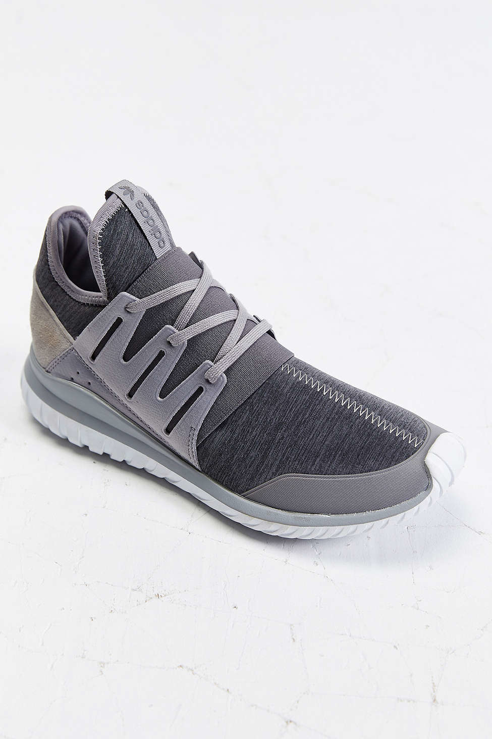 Adidas Originals Tubular Radial Sneaker In Gray For Men Lyst