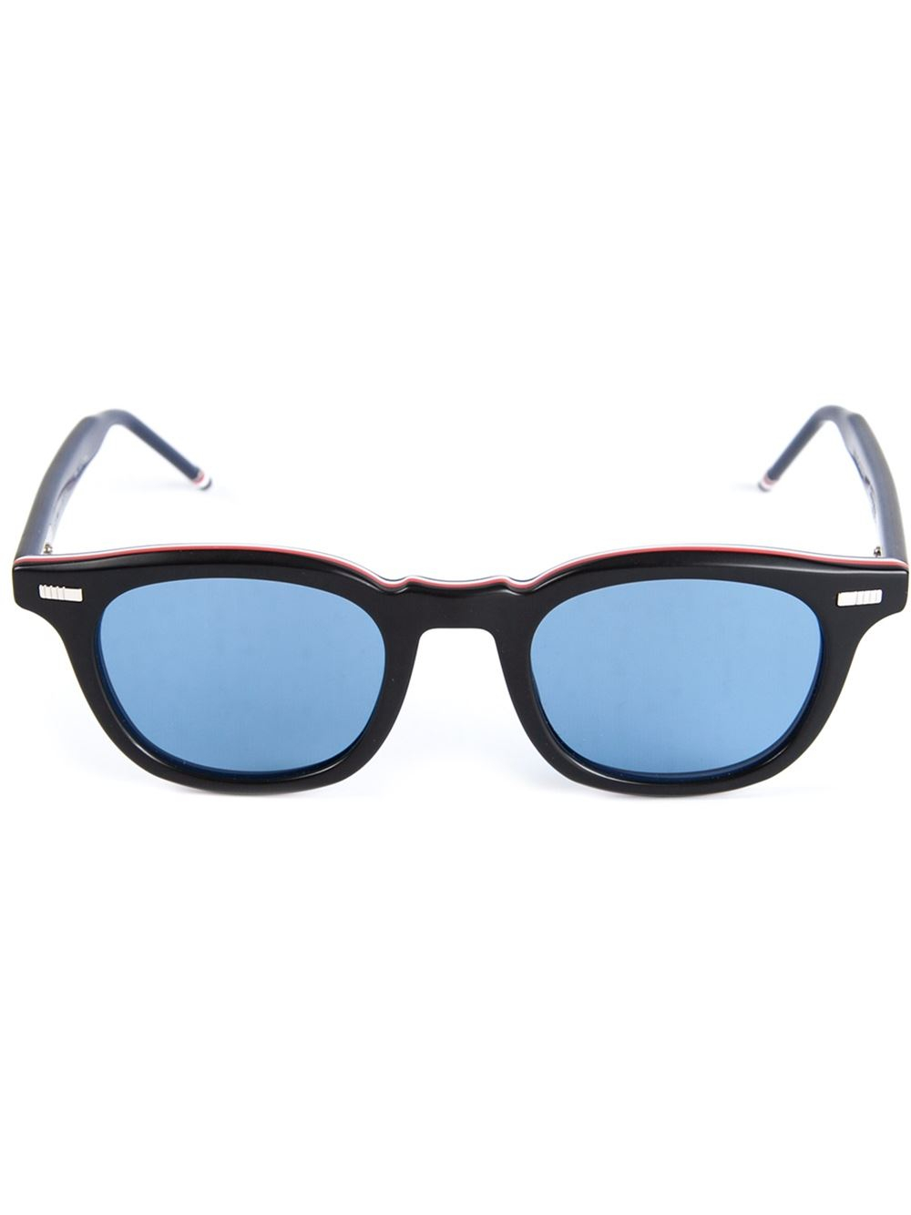 Blue Tinted Sunglasses  thom browne tinted lenses sunglasses in blue for men lyst