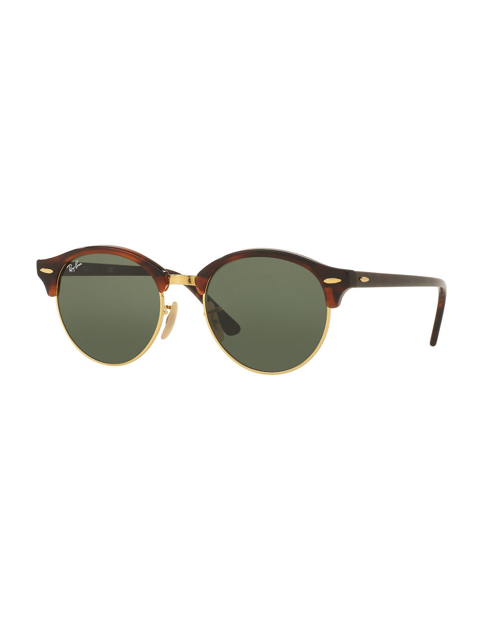 Ray Ban Glasses Frames Green : Ray-ban 51mm Havana Clubround Sunglasses in Green Lyst
