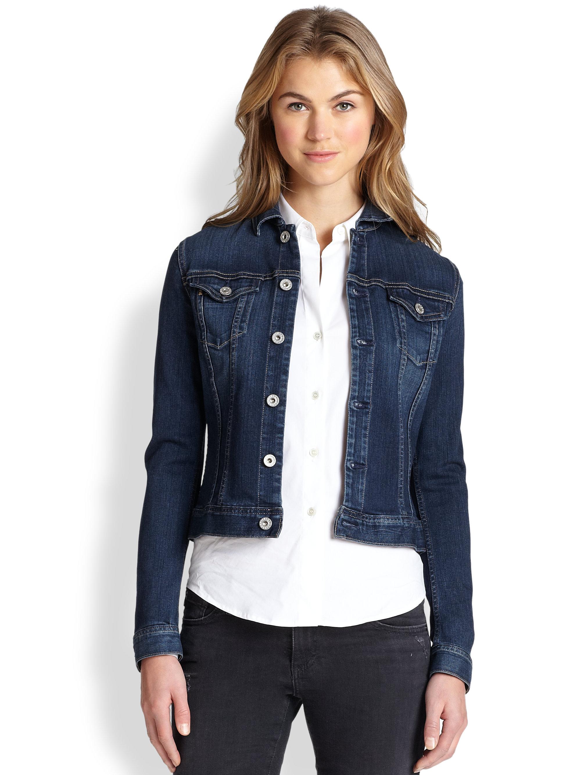 Ag Jeans Robyn Denim Jacket In Blue Lyst