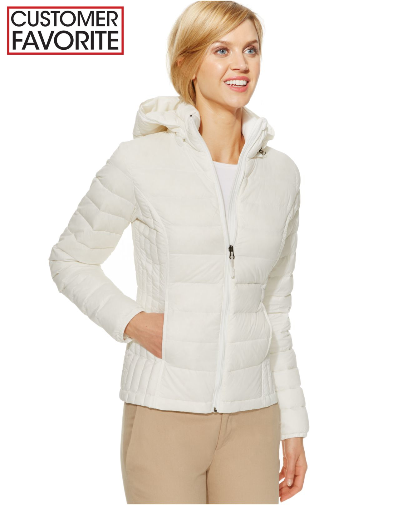 Lyst 32 Degrees Hooded Packable Down Puffer Jacket In White