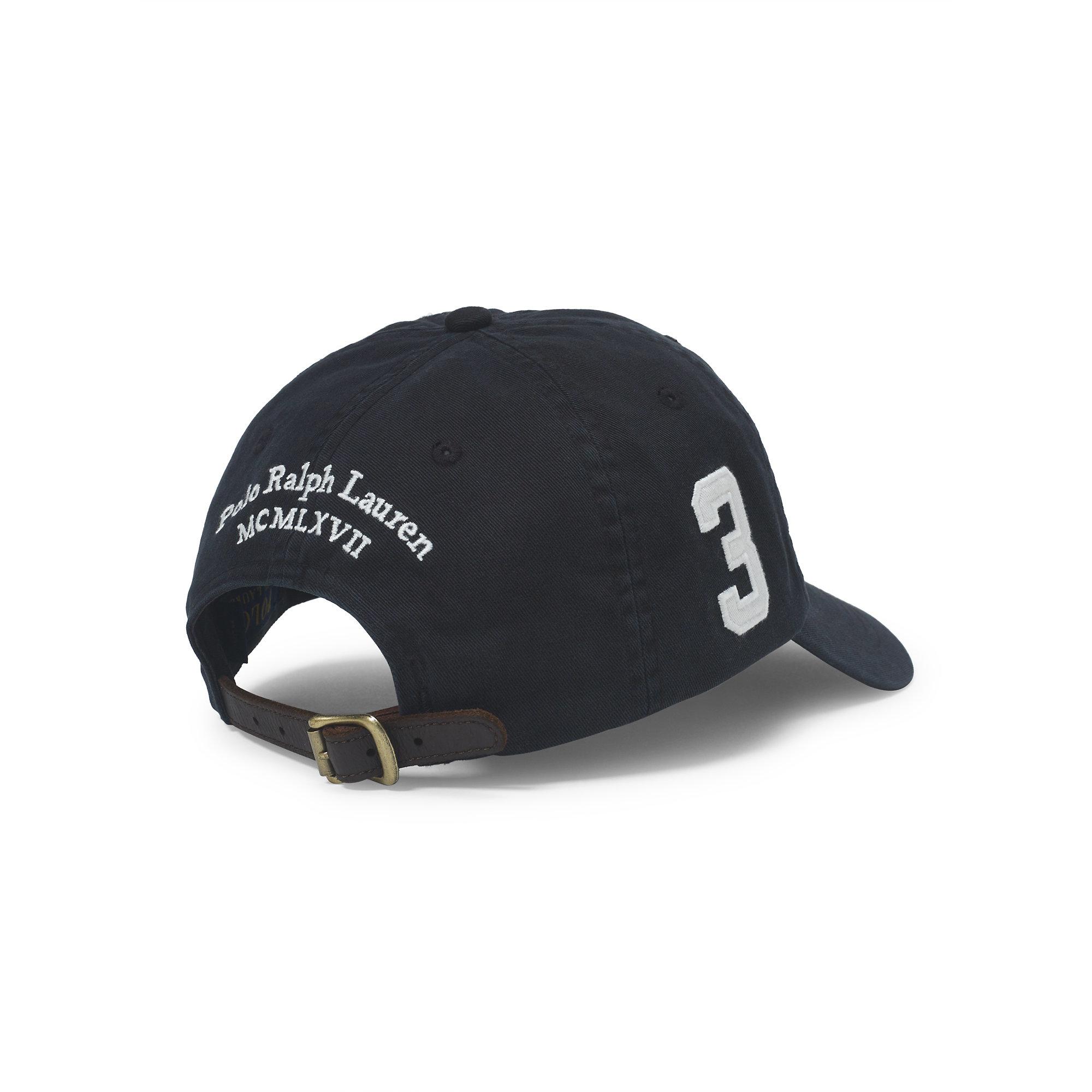 Lyst - Polo Ralph Lauren Big Pony Chino Baseball Cap in Black for Men 07fbfafc404