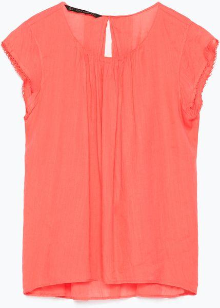 Zara Ruffle Sleeve Blouse 117