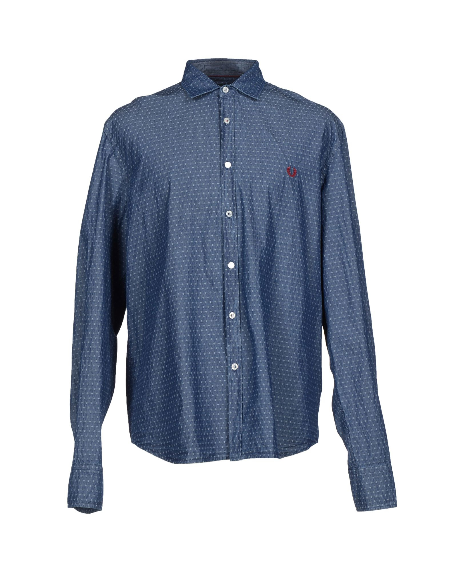 3fdb44444a Lyst - Fred Perry Denim Shirt in Blue for Men
