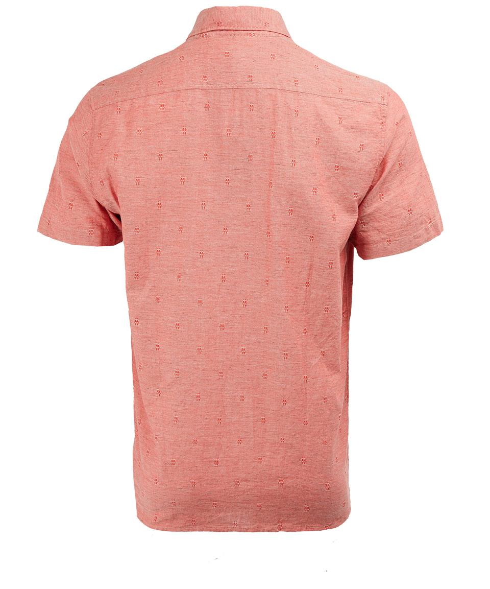 Lyst folk red patterned short sleeve shirt in red for men for Mens short sleeve patterned shirts