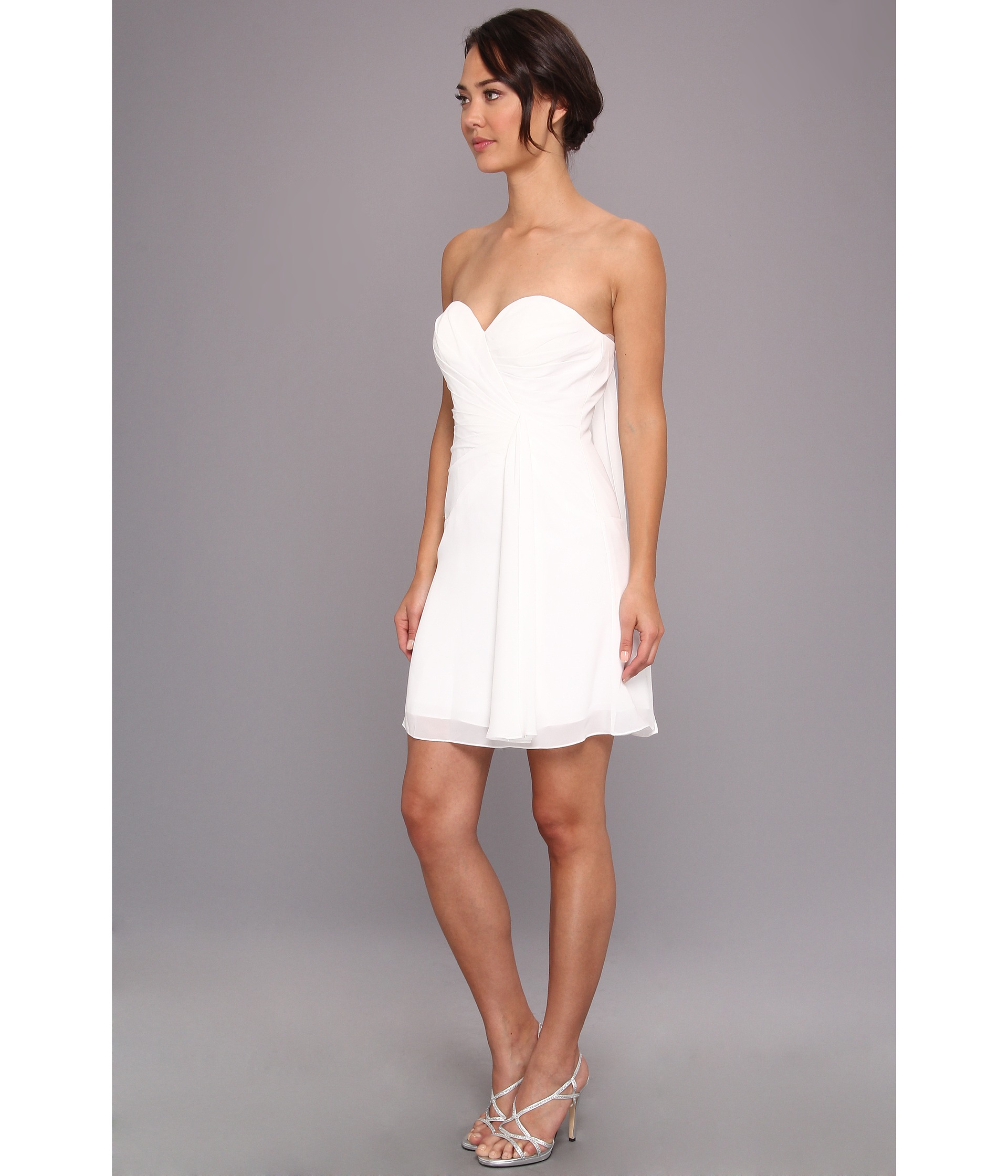 Short Strapless White Party Dress