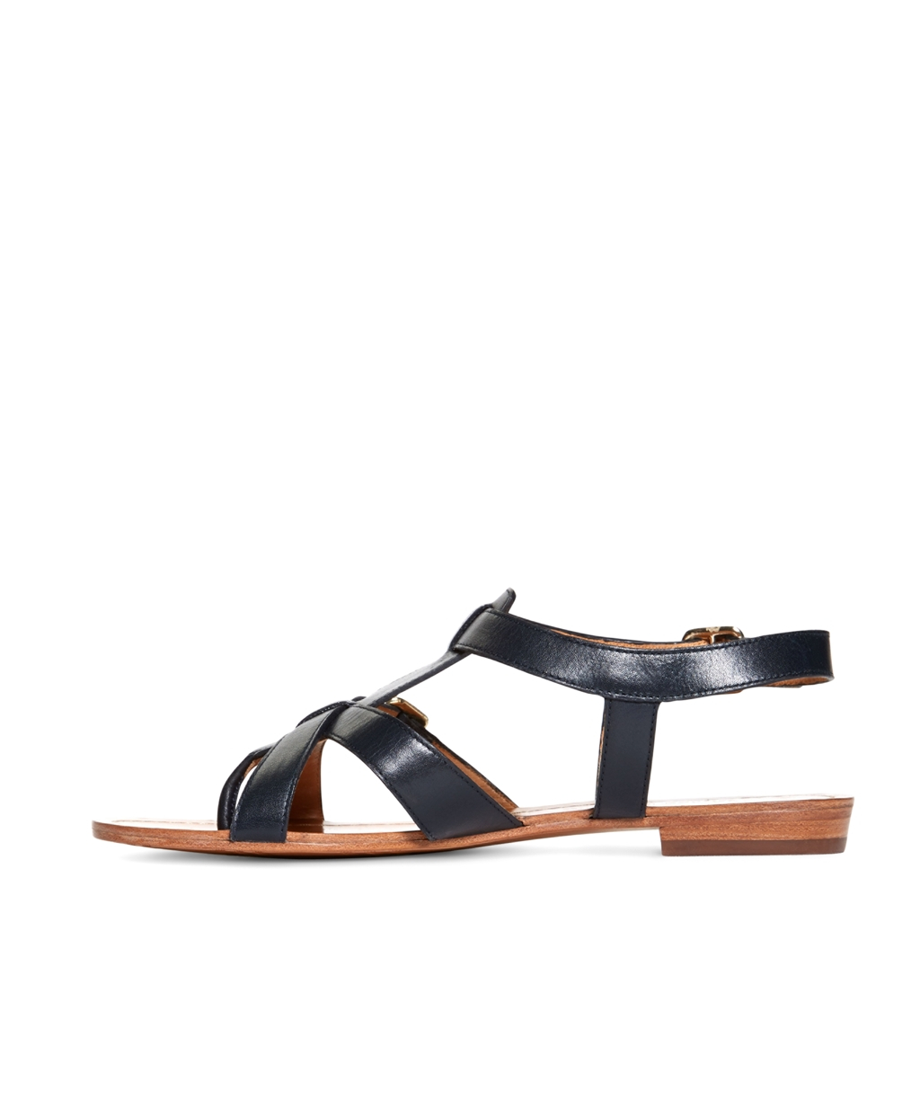 Brooks Brothers Calfskin Gladiator Sandals In Blue Lyst