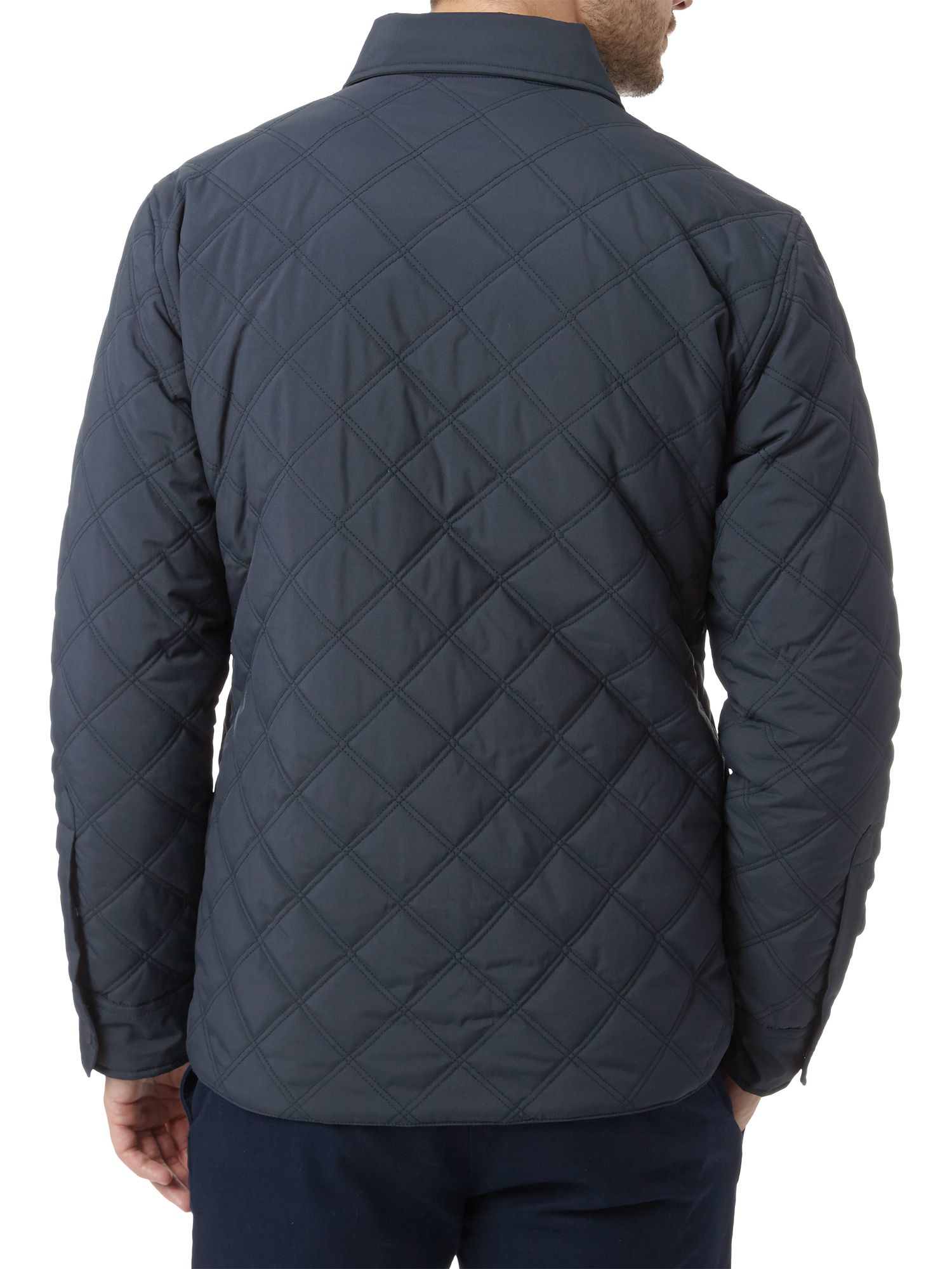 Lyst Lacoste Diamond Quilted Jacket In Blue For Men