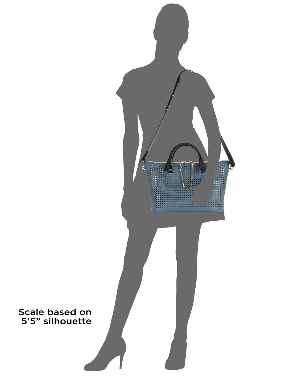 chole handbags - Chlo�� Baylee Medium Perforated Leather Satchel in Blue (jean blue ...