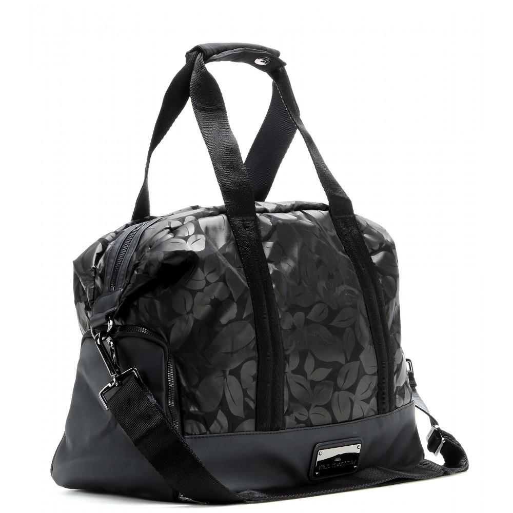 Adidas By Stella Mccartney Small Printed Gym Bag in Black - Lyst free  shipping bca76 a2ade ... ad709a2da6