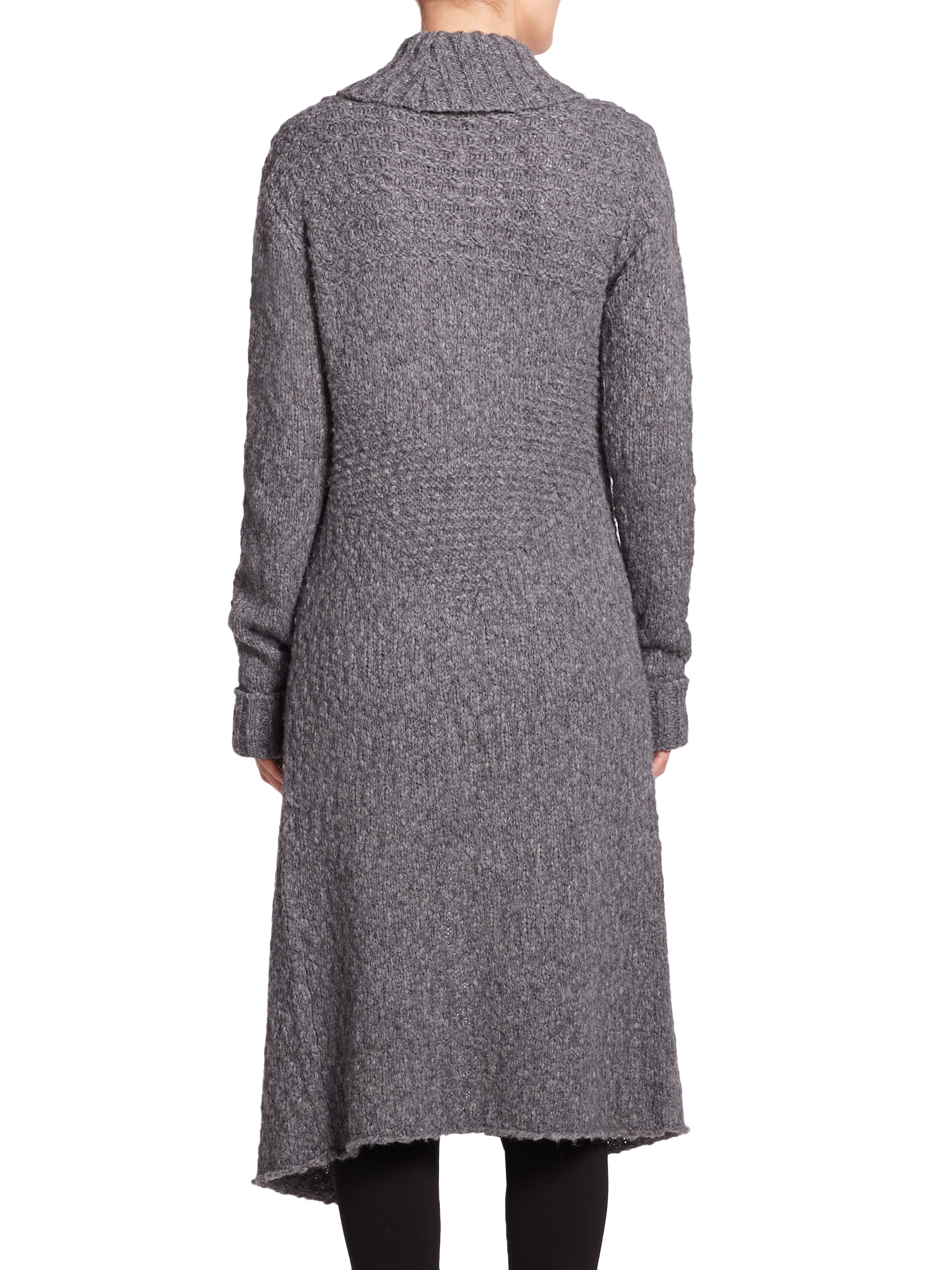 Paige Magdalen Long Duster Cardigan in Gray | Lyst
