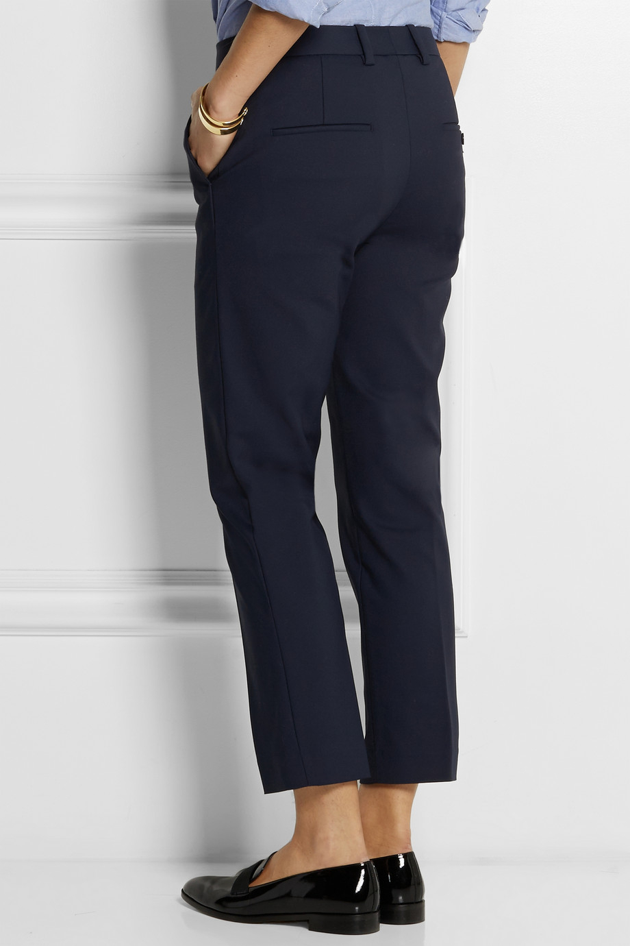3.1 Phillip Lim Pencil Stretch Cotton-Blend Tapered Pants in Blue - Lyst