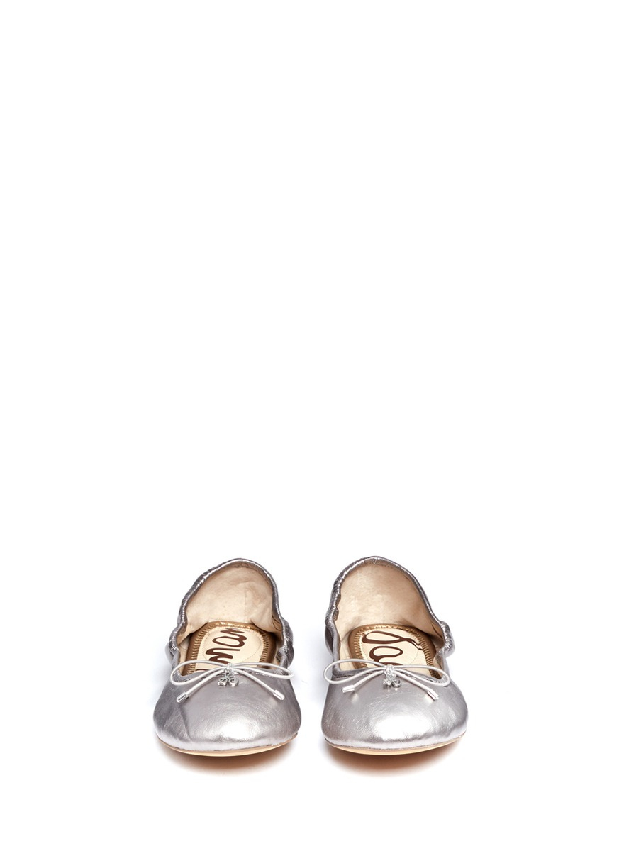 d89605c592884 Lyst - Sam Edelman  felicia  Leather Ballet Flats in Metallic