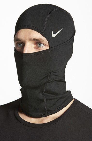 Nike Pro Combat Hyperwarm Hydropull Hood In Black For