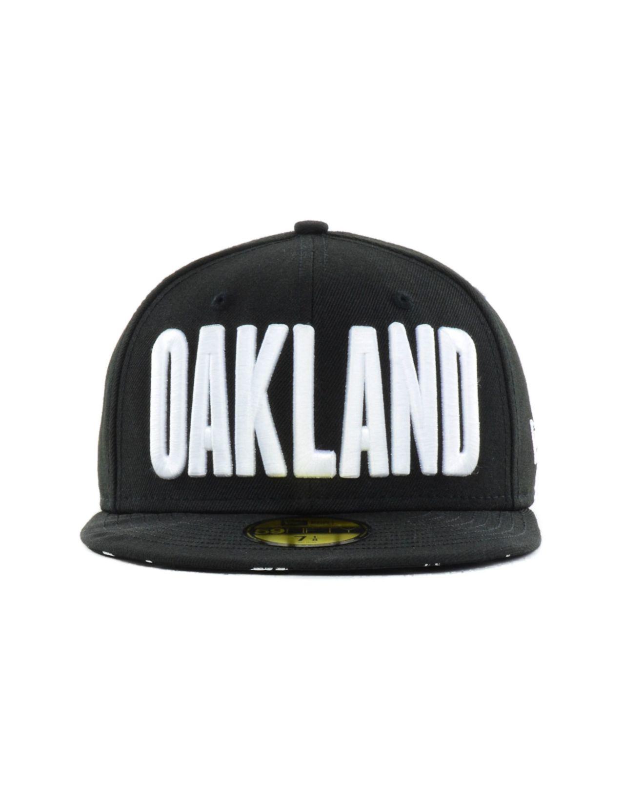 huge discount be220 a2556 ... new zealand lyst ktz oakland athletics big gps 59fifty cap in black for  men 27c27 7e7ea