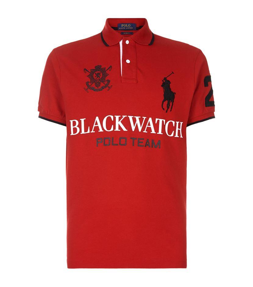 Polo ralph lauren Blackwatch Team Logo Polo Shirt in Red ...