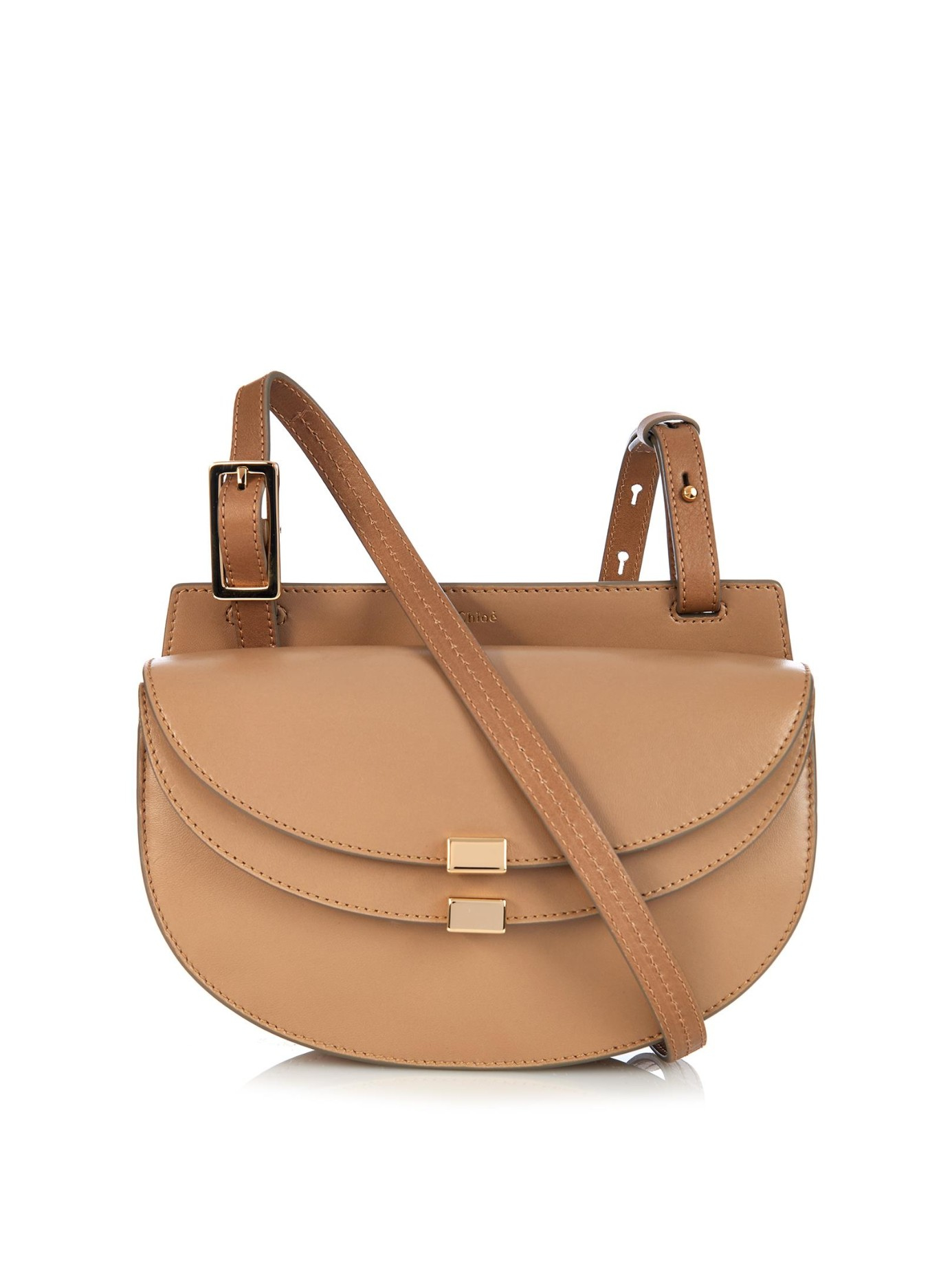 how to spot a fake chloe handbag - Chlo�� Georgia Mini Leather Cross-Body Bag in Brown (DARK BEIGE) | Lyst