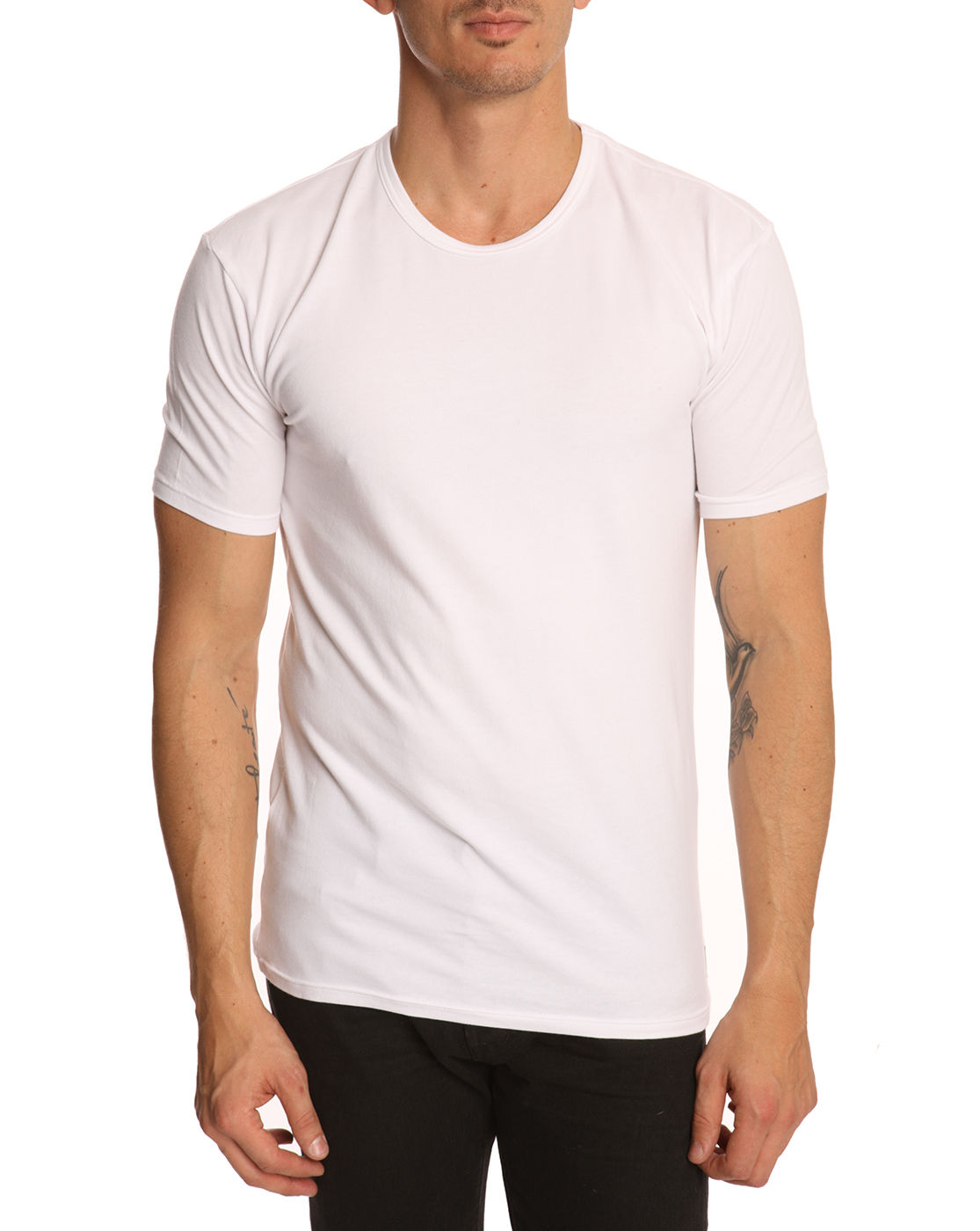 calvin klein pack of 2 white t shirts in white for men lyst. Black Bedroom Furniture Sets. Home Design Ideas