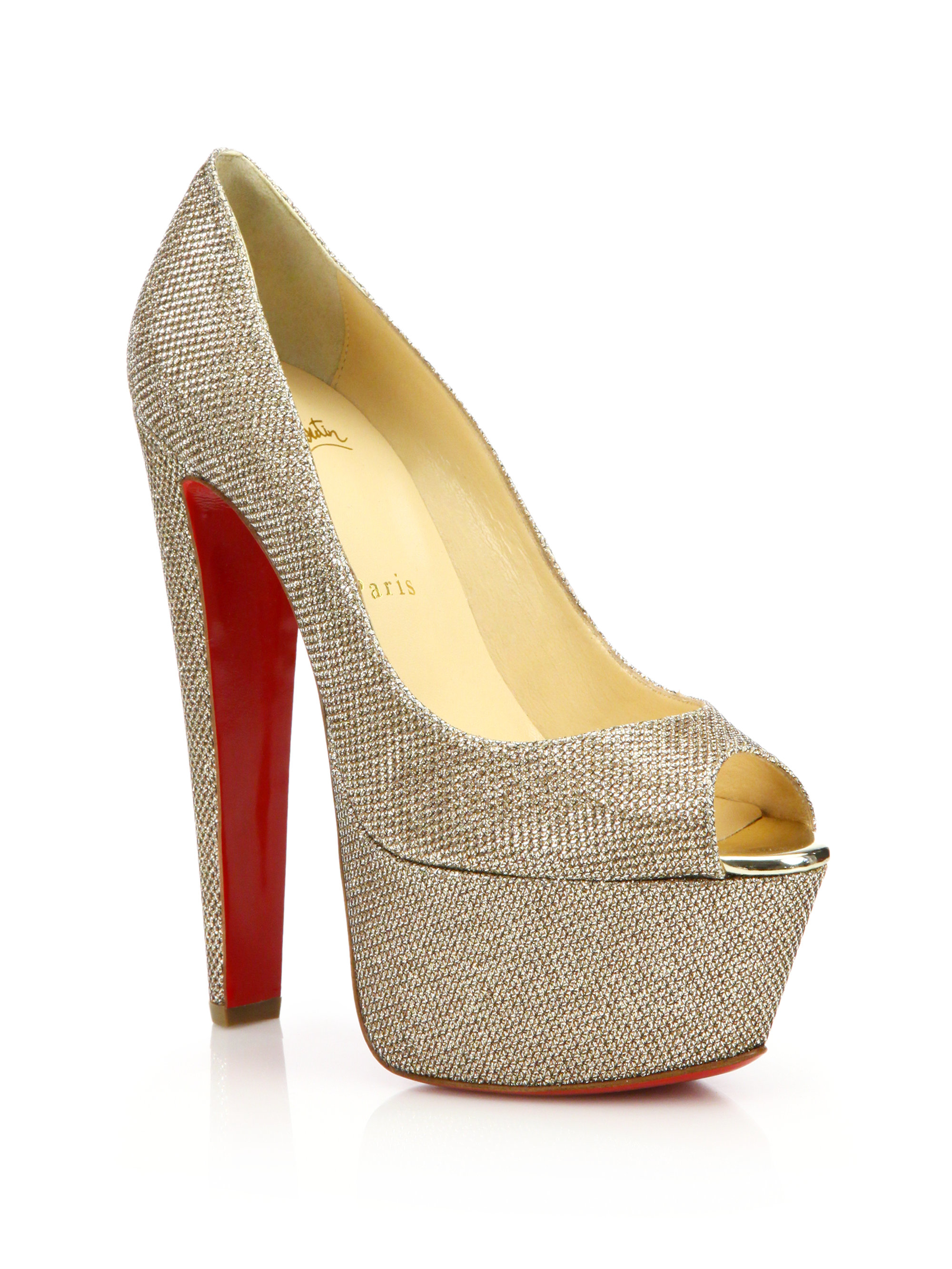 Christian Louboutin Canvas Pointed-Toe Pumps