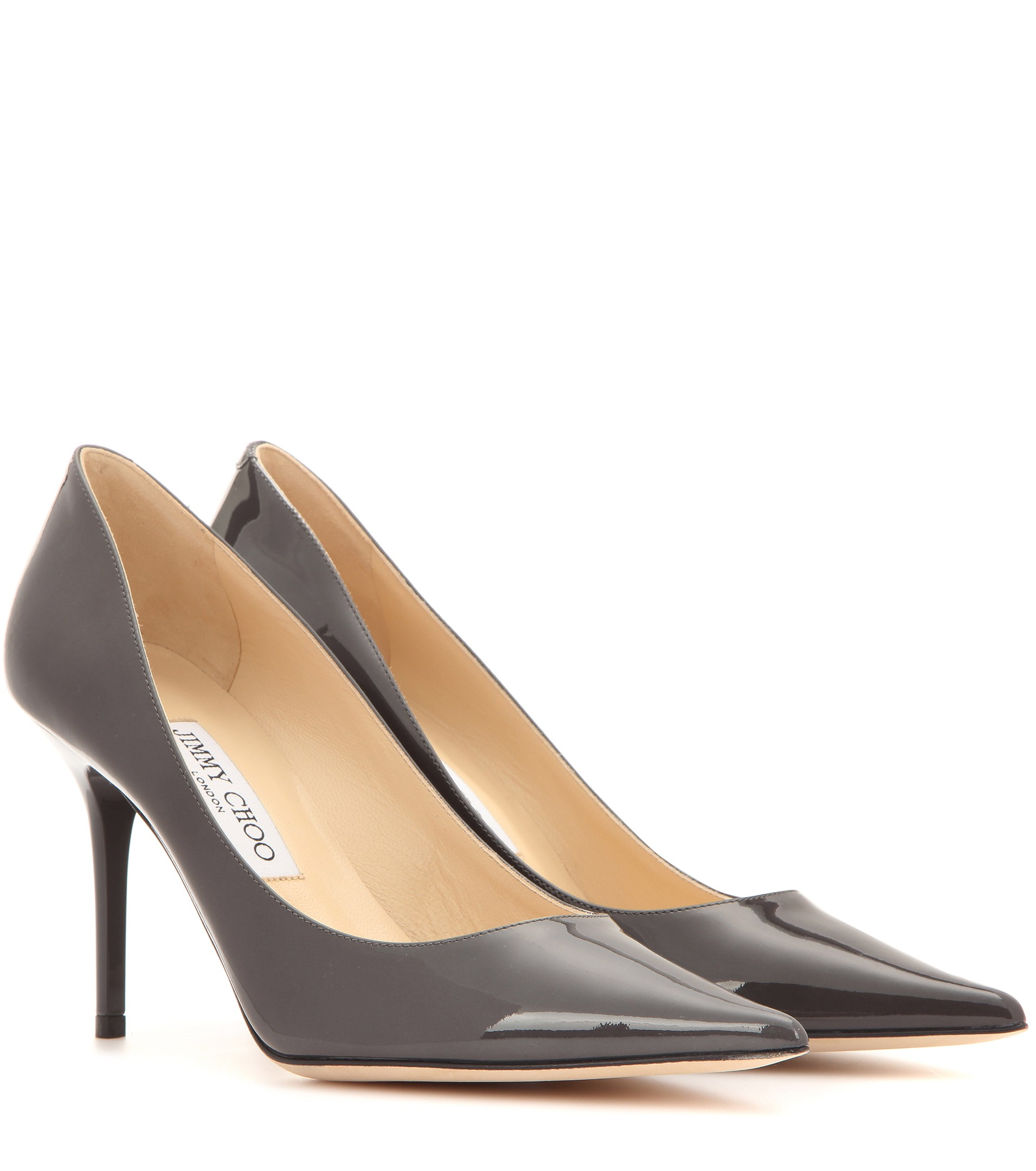 6db079bb95b4 Lyst - Jimmy Choo Agnes Patent Leather Pumps in Gray