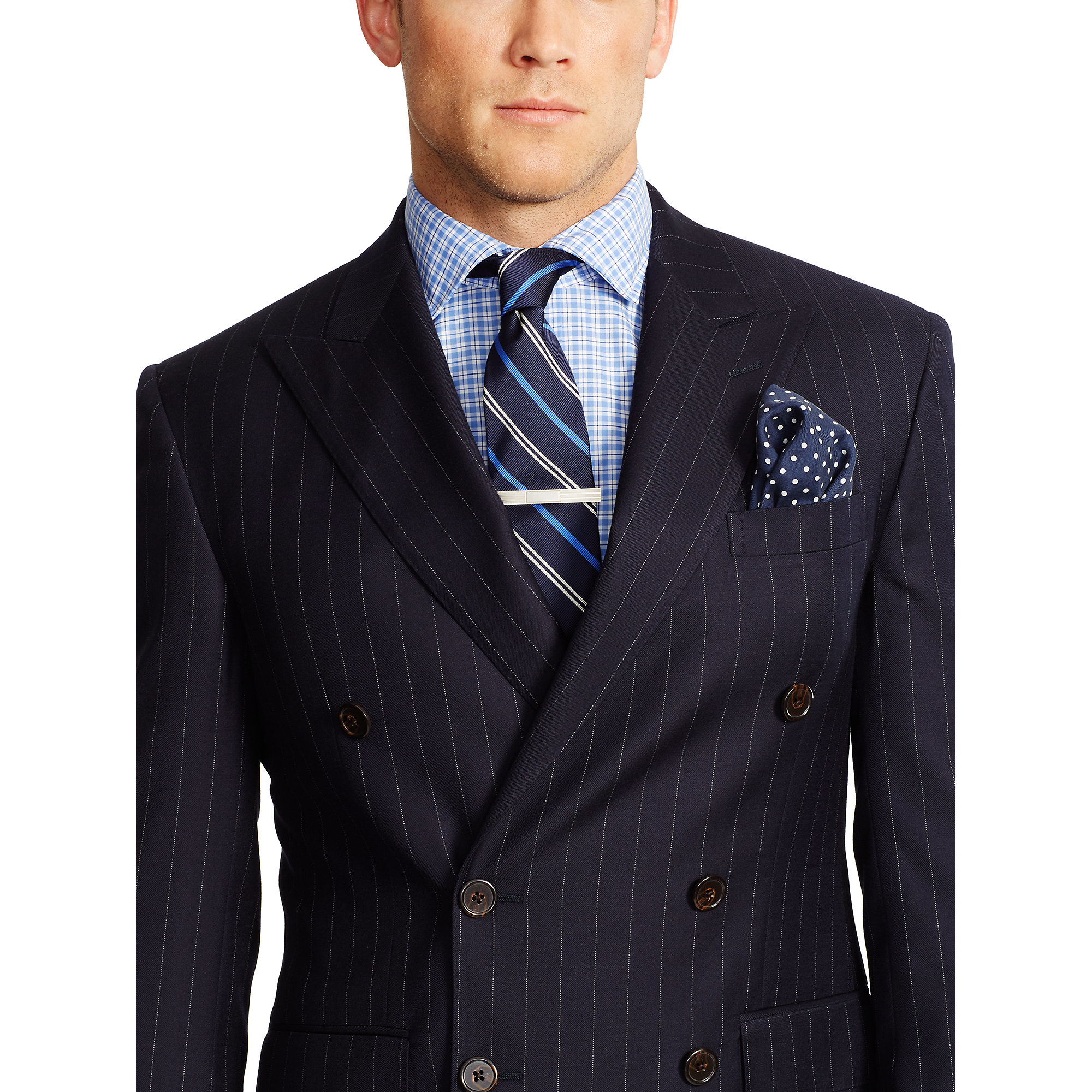 Polo ralph lauren Polo Double-breasted Suit in Blue for Men | Lyst
