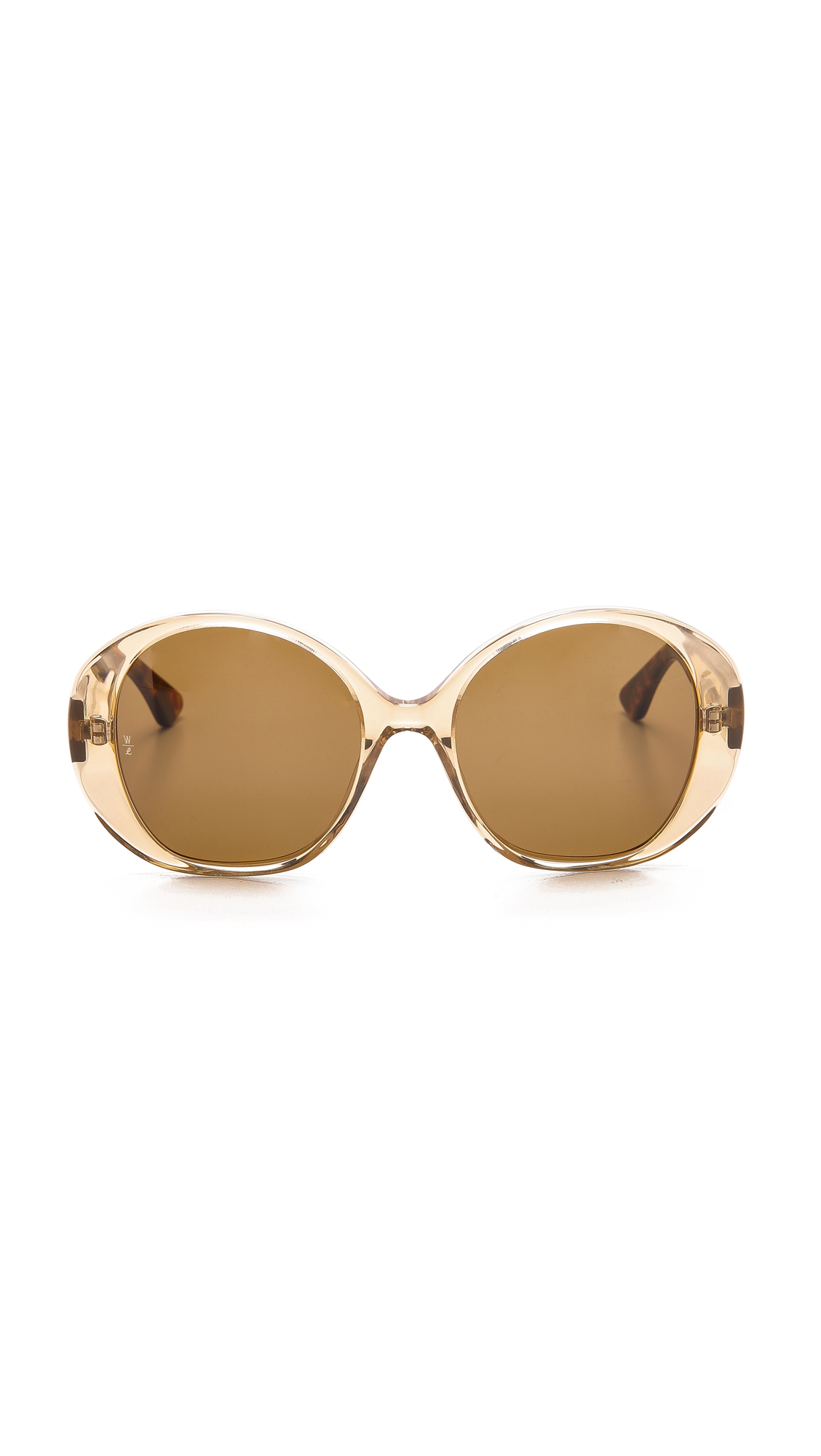 b59f0dd843 Lyst - Wonderland Sun City Sunglasses - Clear Beach Glass bronze in ...