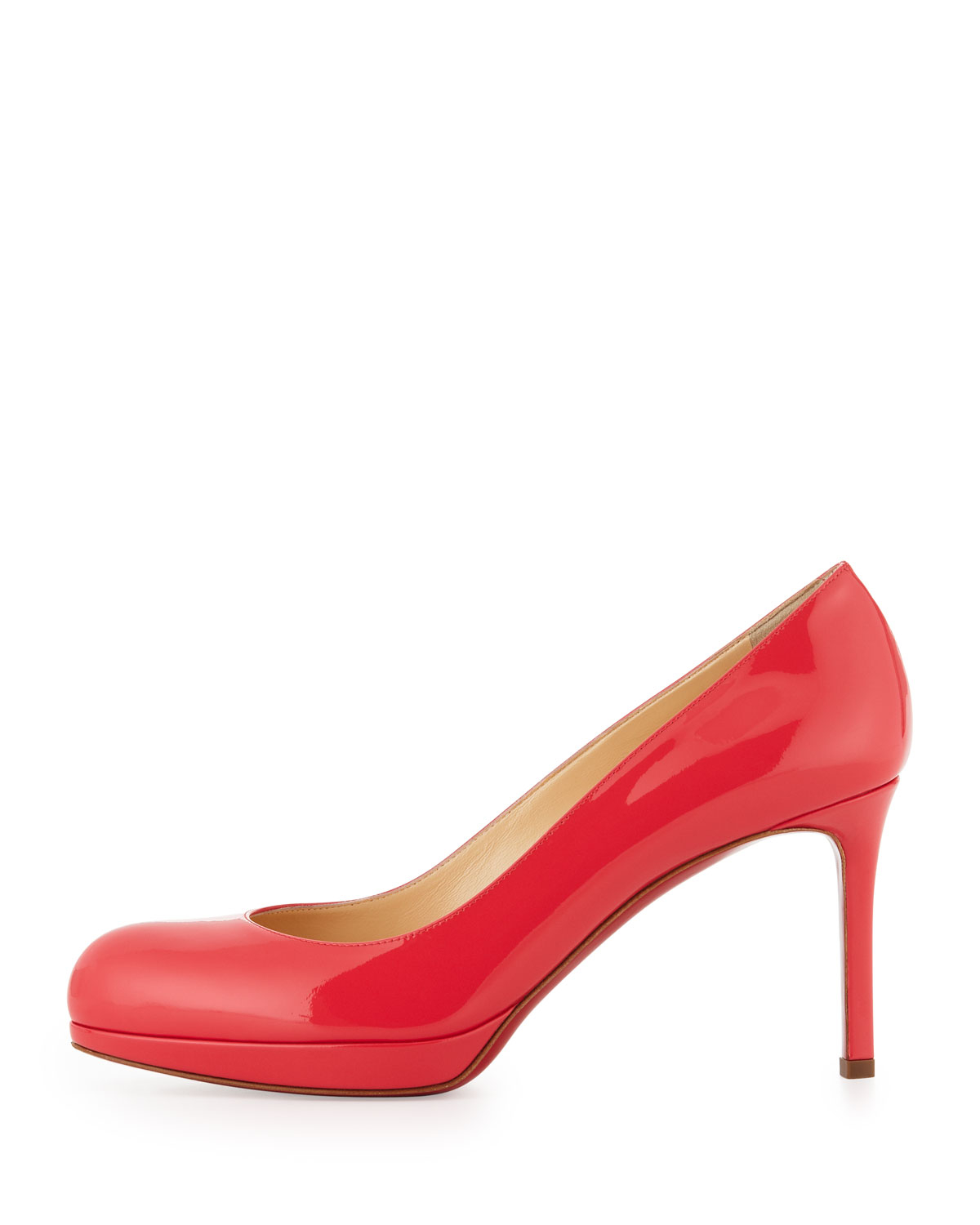 christian louboutin mens spiked sneakers - christian louboutin round-toe wedges Red patent leather covered ...