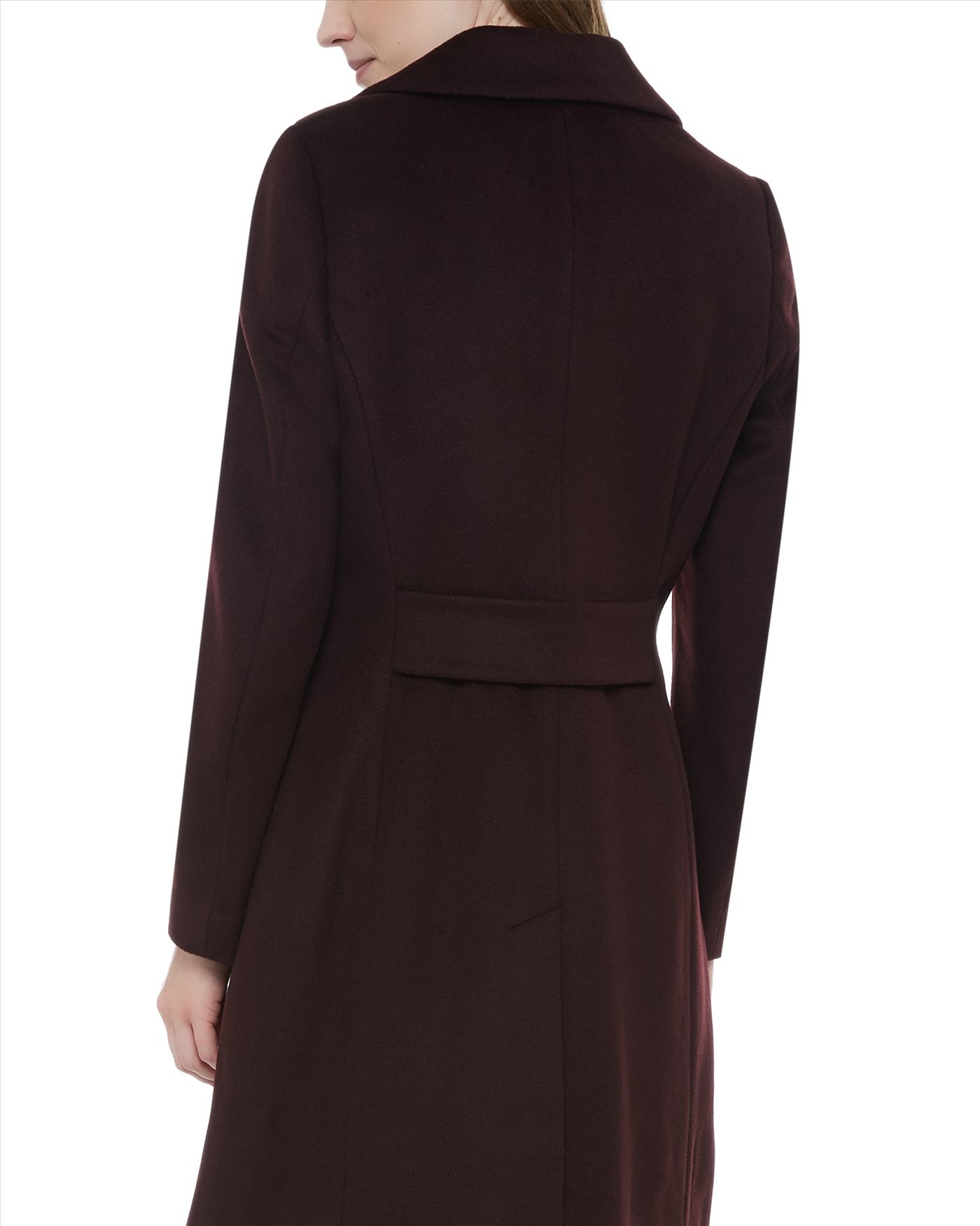Jaeger Wool Three-button Coat in Brown | Lyst