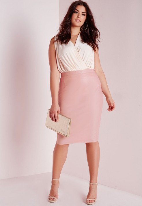 Blush Leather Skirt - Dress Ala