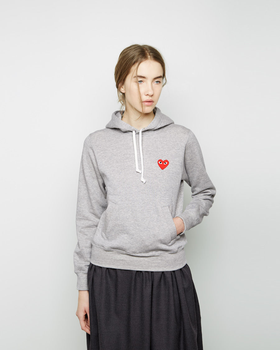 play comme des gar ons french terry sweatshirt in gray lyst. Black Bedroom Furniture Sets. Home Design Ideas