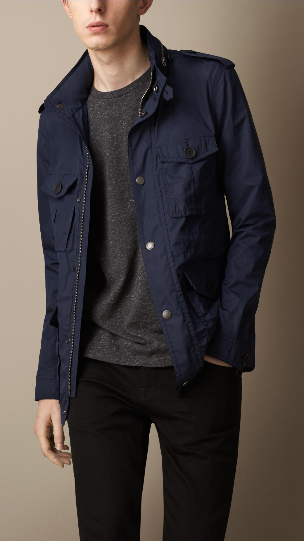 Burberry Lightweight Field Jacket in Blue for Men | Lyst