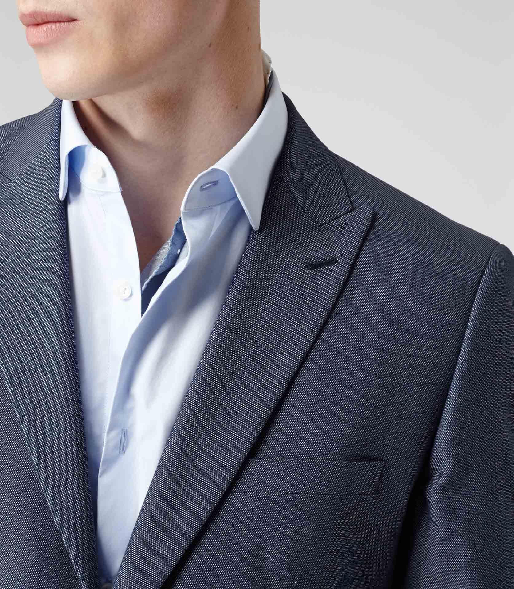 Reiss Saturn B Peak Lapel One Button Blazer In Blue For
