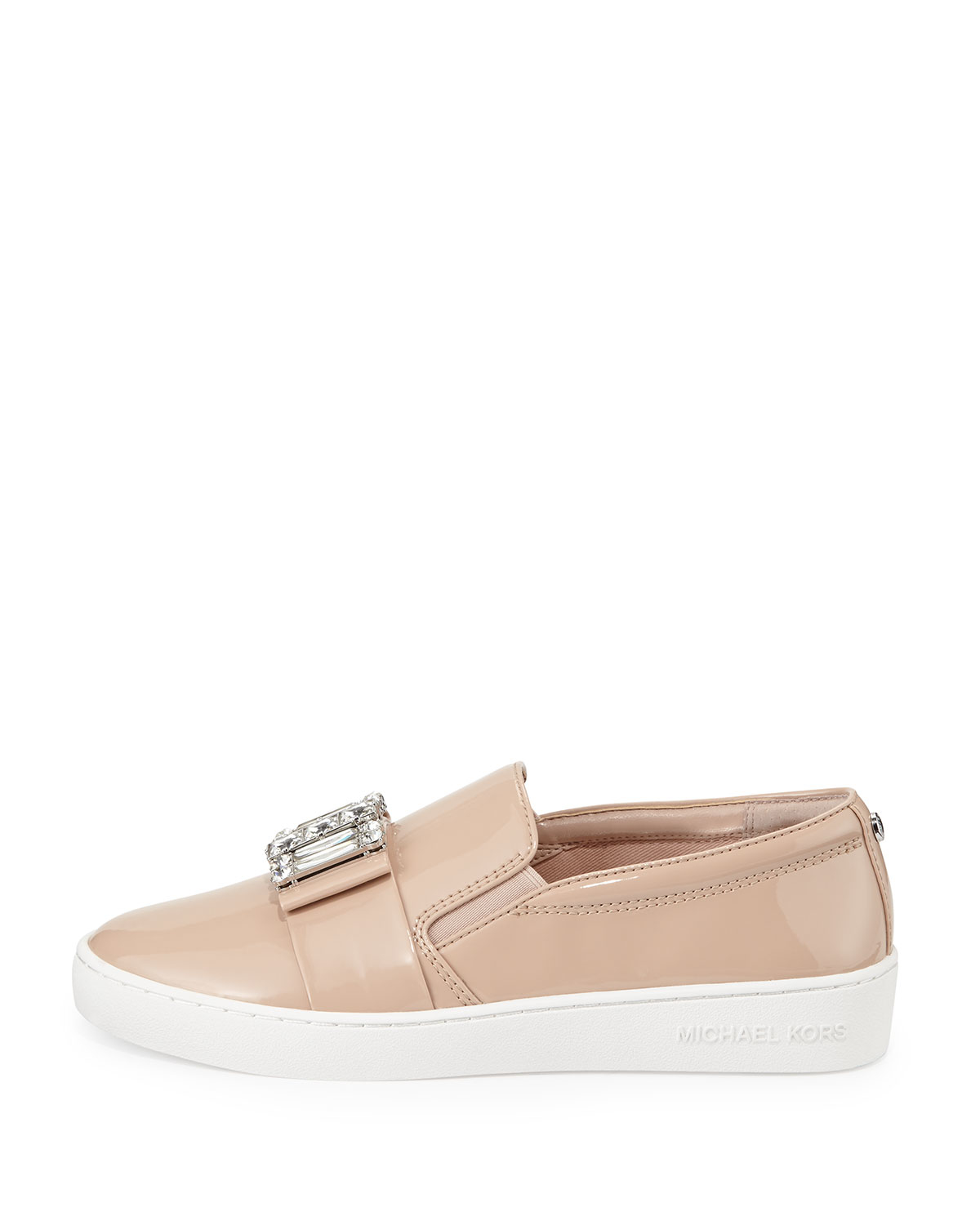 michael michael kors michelle faux patent jewel sneaker in pink lyst. Black Bedroom Furniture Sets. Home Design Ideas