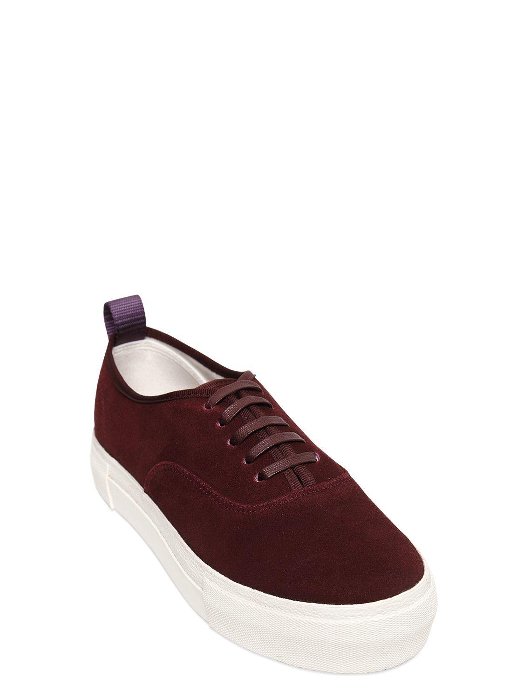 Eytys Mother Suede Platform Sneakers in Purple for Men | Lyst
