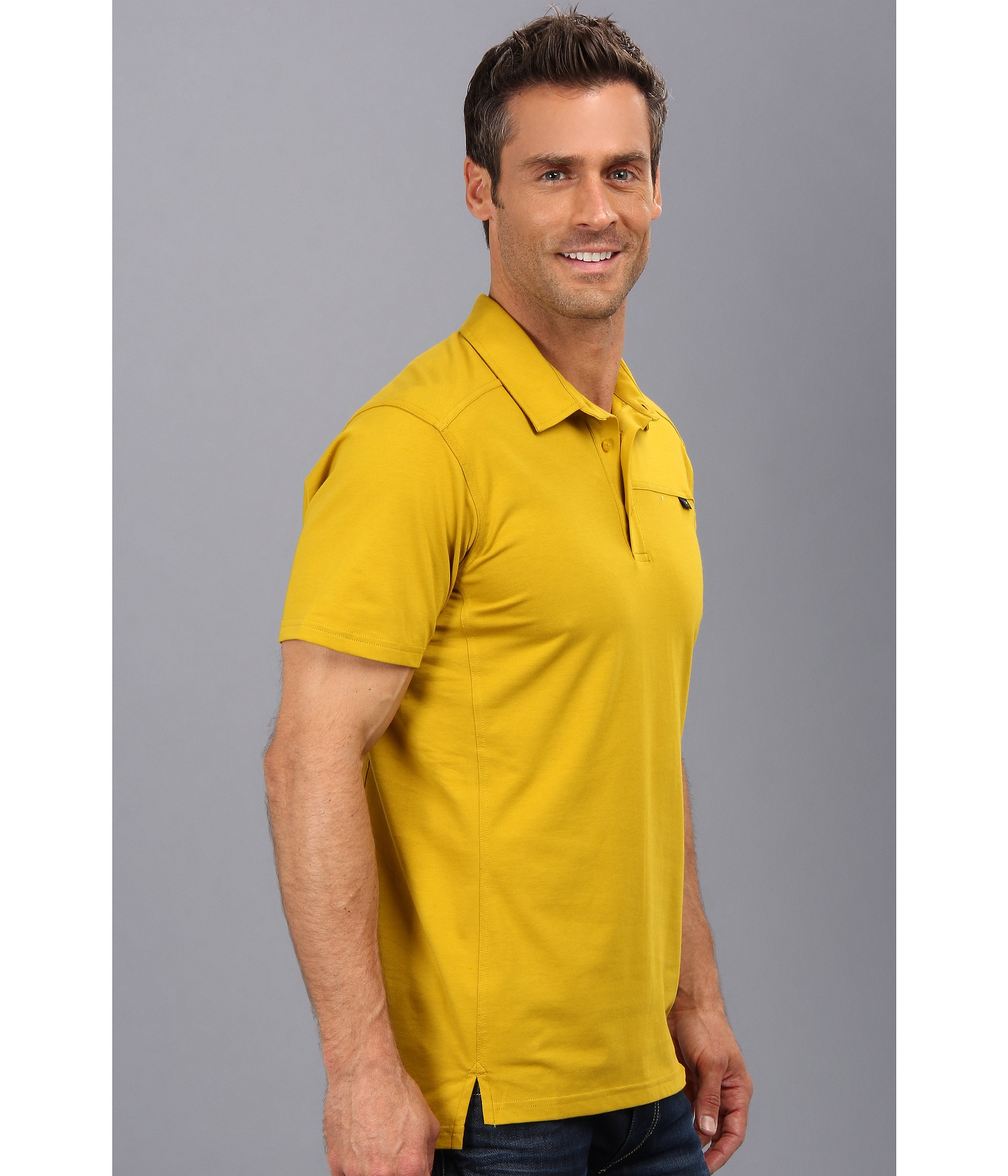 86efeb57 Arc'teryx Captive Polo Ss in Yellow for Men - Lyst