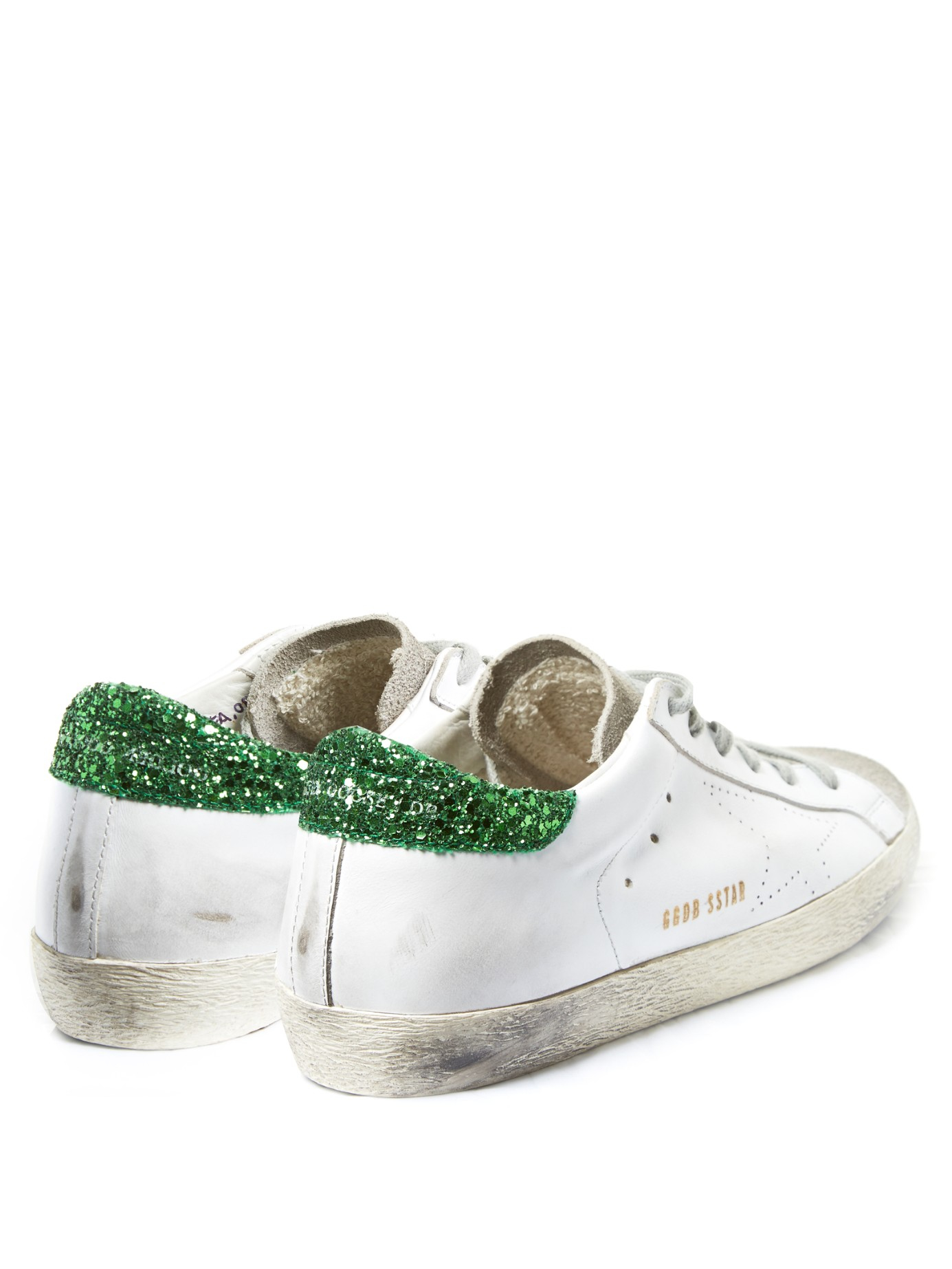 Superstar Glitter-Embellished Leather Sneakers Golden Goose toCidoF