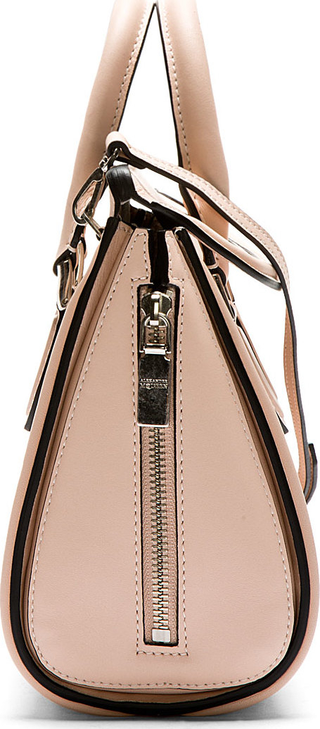 Alexander mcqueen Pink Leather Heroine Mini Shoulder Bag ...
