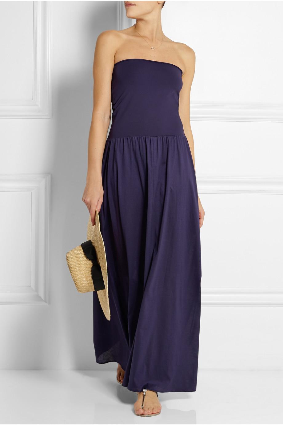 6bc8d7acfd7 Eres Zephyr Ankara Cotton-Jersey Maxi Dress in Blue - Lyst