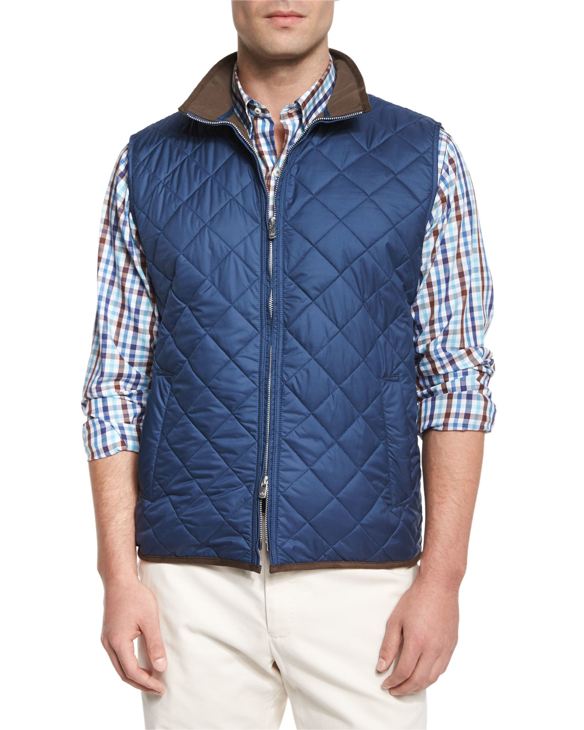 ebfdfaec96 Lyst - Peter Millar Potomac Quilted Vest in Blue for Men