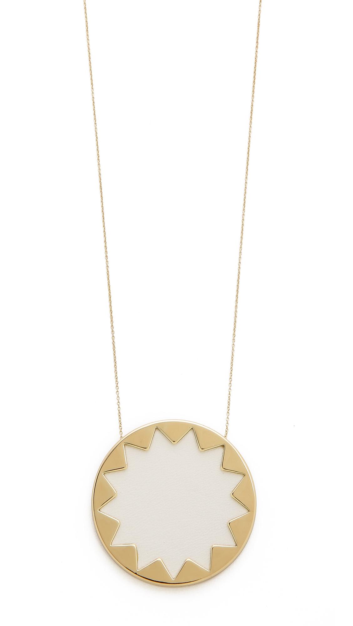 lyst house of harlow 1960 sunburst pendant necklace in white